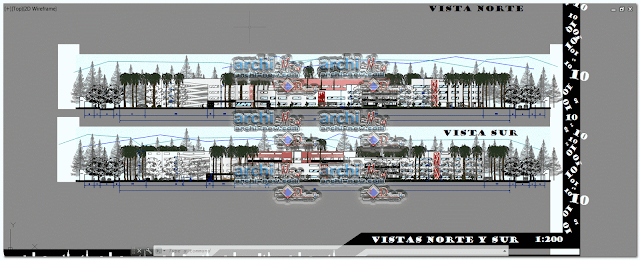 Vertical projections of the project (sections ( Of workshop 5 social housing blocks dwg