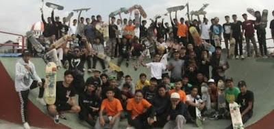 Kini Ada Tempat Khusus Bermain Skateboard di Kota Blitar