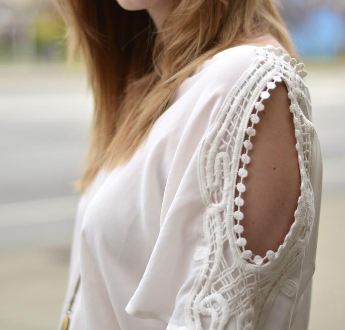 Cut-Out shoulder blouse