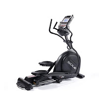 "New Sole E25 Elliptical Trainer 2016, with 20 lb flywheel, 20"" stride length, ECB magnetic resistance, Power Adjustable Incline with 1-20 levels, dual action handlebars"