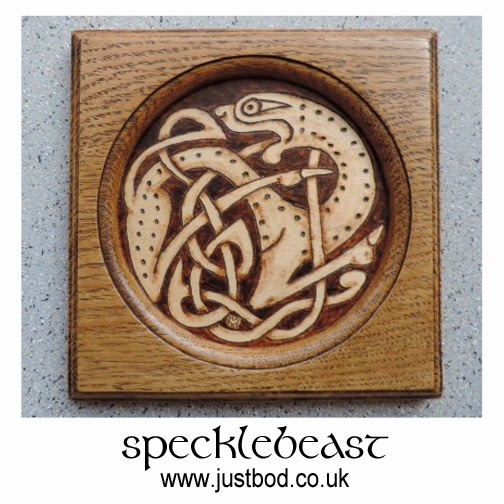 Pyrography Celtic wall plaque