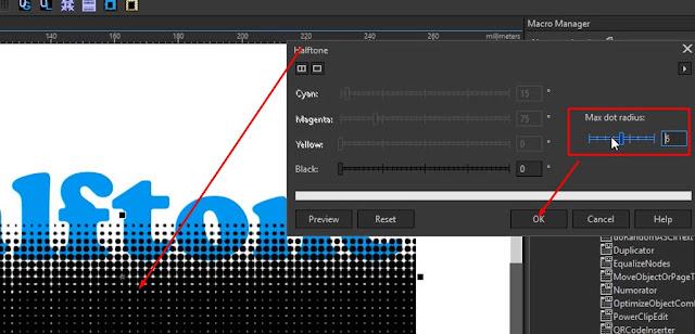 Membuat Efek Halftone Pada Bitmap di CorelDraw