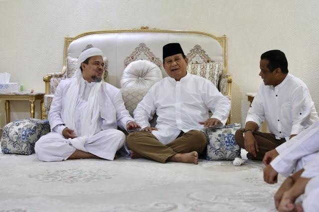 Habib Rizieq Minta 4 Partai Deklarasi Dukung Prabowo