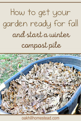 How to prepare your garden for fall and build a winter compost pile.