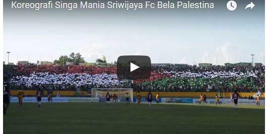 Parah, Koreo Suporter Bendera Palestina, Sriwijaya FC Dijatuhi Disanksi PSSI
