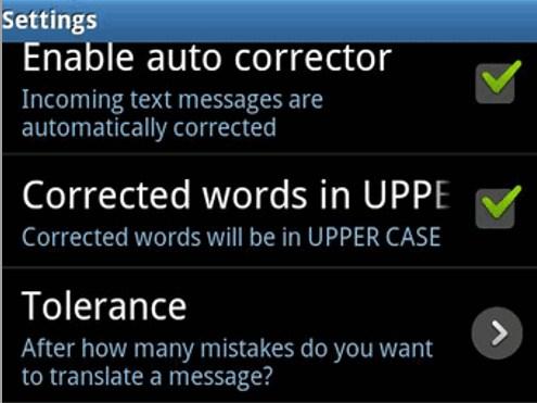 sms corrector