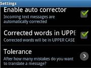 இலவச SMS corrector ஆன்ட்ராய்ட் செயலி