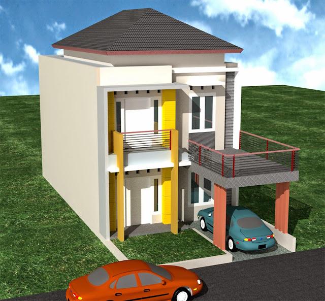 Desain Rumah Minimalis 2 Lantai 8 X 15 Gambar Foto Desain Rumah