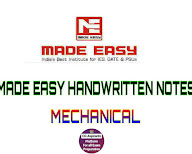 Download Made Easy Handwritten Notes For Mechanical - CG Aspirants