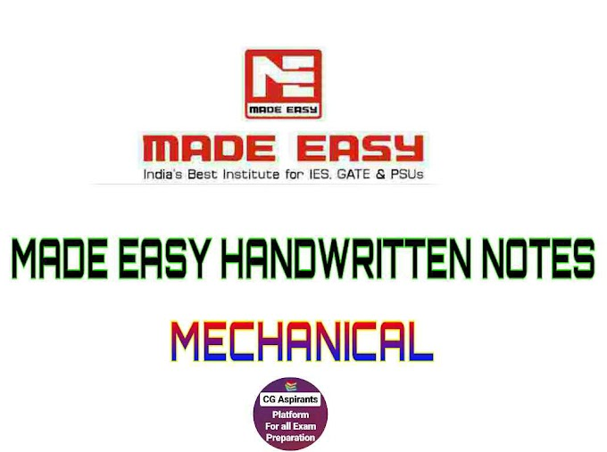 [Latest 2019] Download Made Easy Handwritten Notes For Mechanical