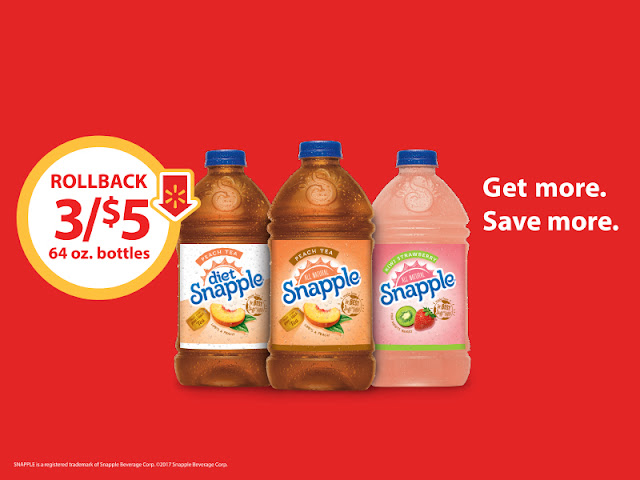 #SnappleRollback, #ad, #Walmart, Snapple On Rollback at Walmart, Snapple Deal at Walmart, Snapple Coupon, Snapple at Walmart, Stock up on Snapple.