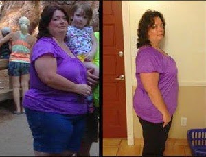She lost weight with the Skinny Fiber weight loss challenge!