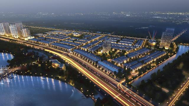 Phối cảnh ban đêm dự án LakeSide Palace Đà Nẵng