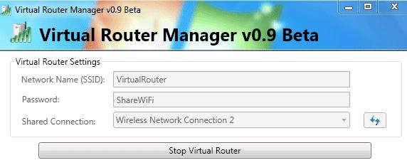 Virtual Router Manager Screenshot