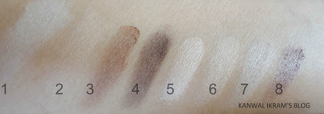 Essence All About Nude Eye Palette Swatches In Artificial Light