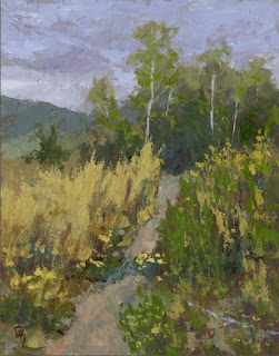 painting nature hike hiking landscape oil impressionist