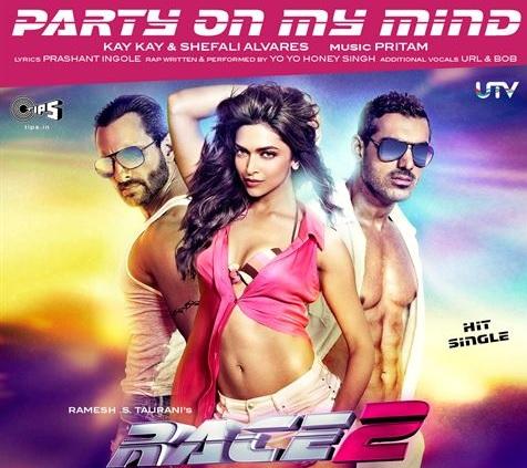 86075995ef618 Hindi Song Lyrics   Party On My Mind Song Lyrics from Race 2
