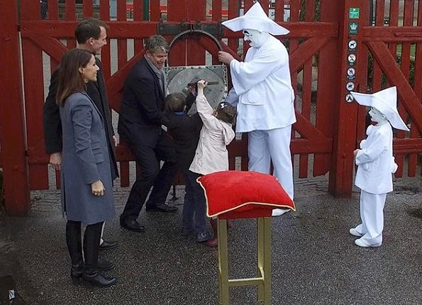 Prince Joachim, Princess Marie and their children Princess Athena and Prince Henrik attend opening of the Bakken amusement park in Klampenborg. Princess Marie wore Ralph Lauren wool coat