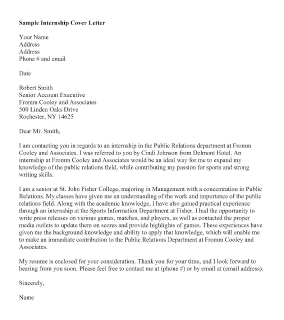 Cover Letter Sample Referred By Someone ] - application ...