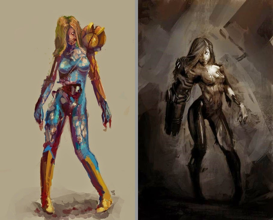 Samus Aran Zombie fan art