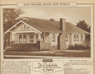 Sears Oakdale bungalow in 1925 catalog