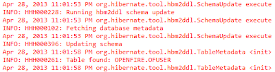 updating schema with Hibernate