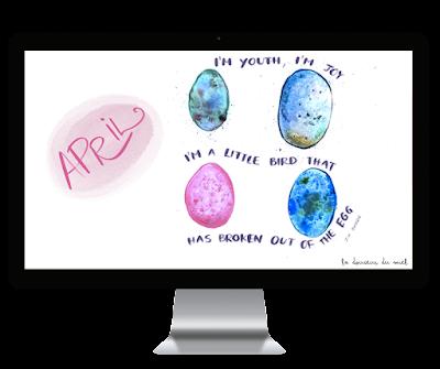L'uovo è un'opera d'arte - April desktop wallpaper