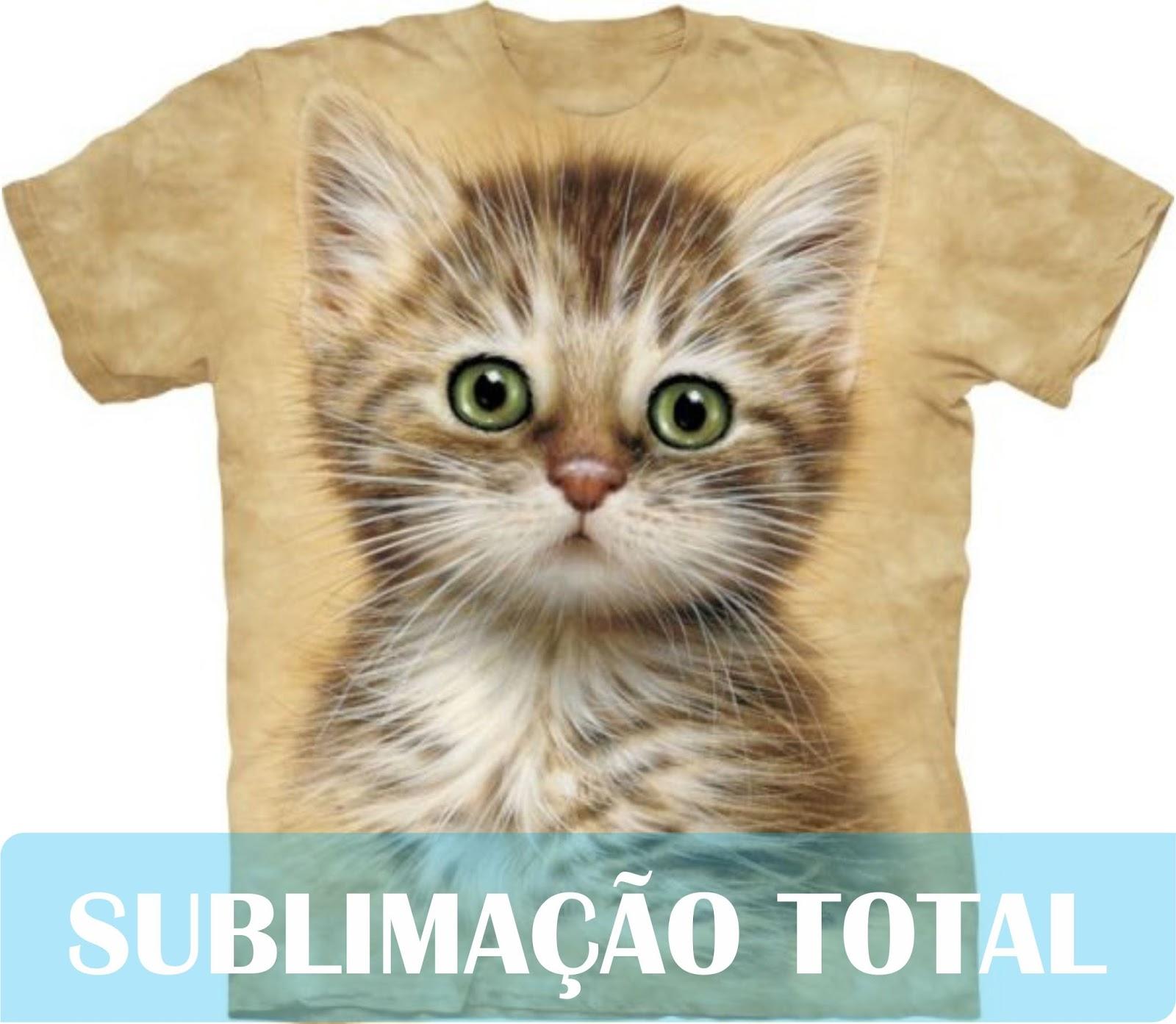 camiseta com sublimação total ou parcial