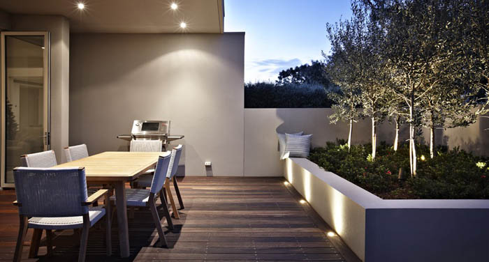 Casas minimalistas y modernas patios modernos y minimalistas - Jardines exteriores de casas modernas ...