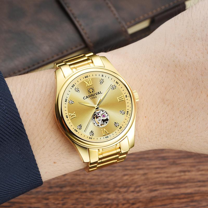 đồng hồ vàng automatic