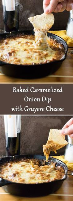 Baked Caramelized Onion Dip With Gruyere Cheese