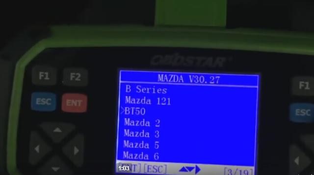 Sélectionnez Mazda BT50