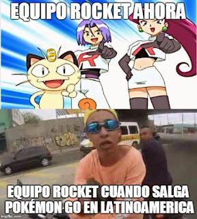 meme del equipo rocket pokemon go el brayan