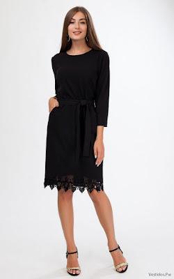 Vestidos negro de encaje