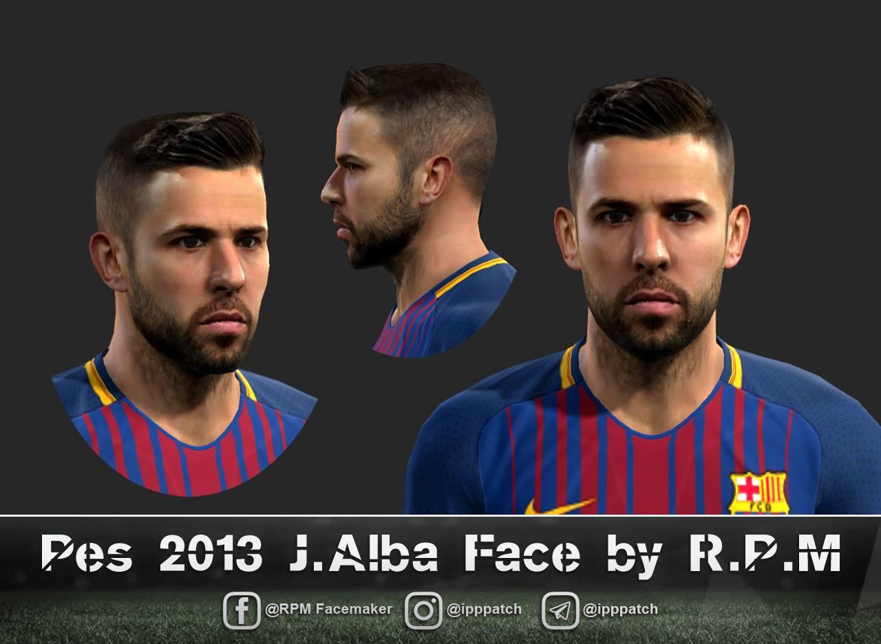 PES 2013 Jordi Alba Ramos (FCB) Face 5697e85ba