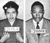 Rosa Parks & Martin Luther King Montgomery Bus Boycott booking photos