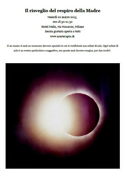 ECLISSE SOLARE RISVEGLIO DEL RESPIRO DELLE MADRE incontro evento