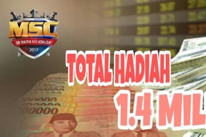Total Hadiah 1.4 Miliar Telah Disiapkan Untuk Pemenang MSC 2018