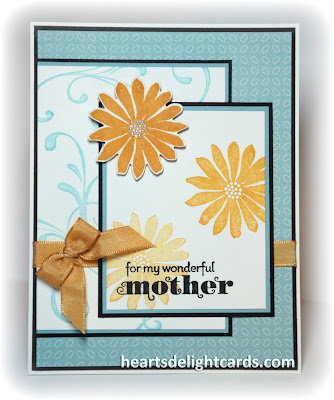 Hand crafted Mother's Day Card, card making, paper crafting