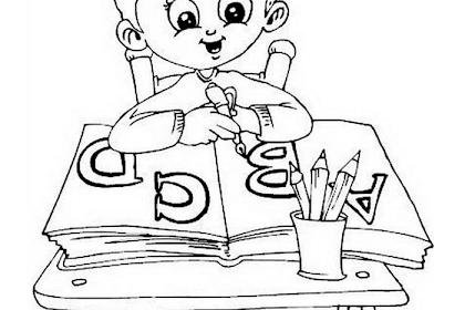 Mewarnai Gambar Anak Belajar