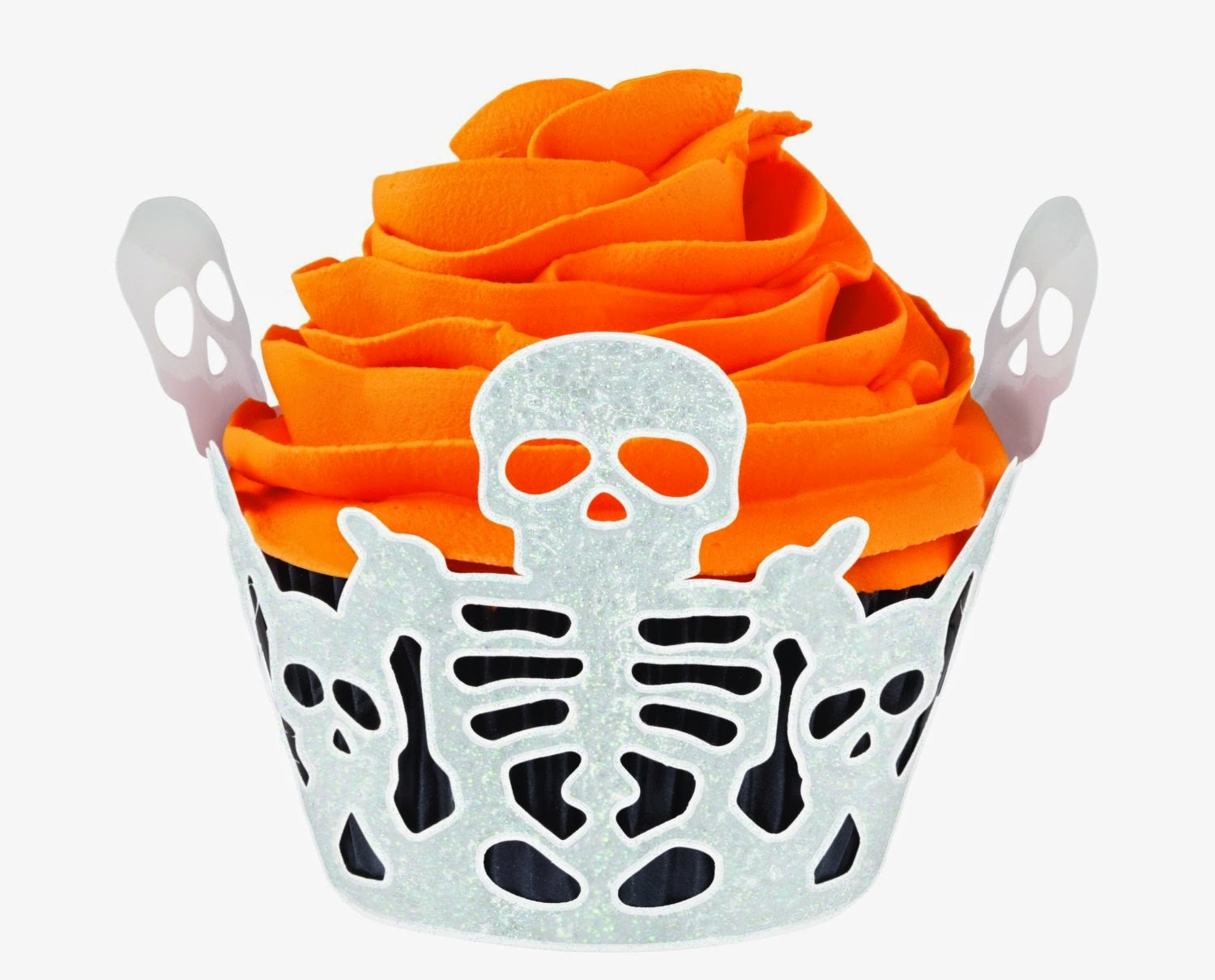 Halloween Skeleton Cupcake