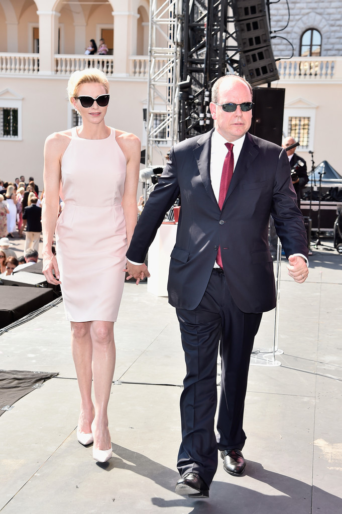 f3e82ab917 Princess Charlene in Dior (shoes) for Day 1 of Prince Albert s 10th Jubilee