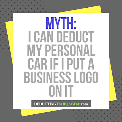 Myth: I can deduct my personal vehicle with a business logo magnet