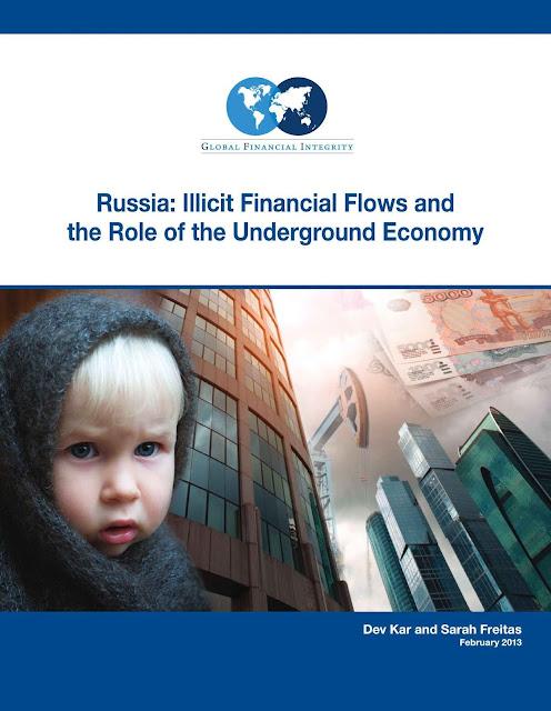 No período 1994-2011, a Rússia perdeu pelo menos US$211.5 bilhões em movimentos ilícitos de capital. Só foi superada pela China. Veja relatório completo sobre a Rússia em PDF.