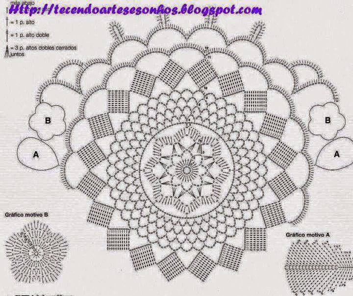 Fantásticas carpetas tejidas al crochet - con patrón | Crochet y Dos ...