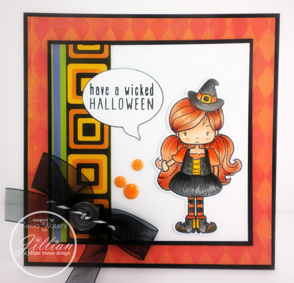 A Jillian Vance Design, Whimsie Doodles, Kecia Waters, Copic markers, Halloween