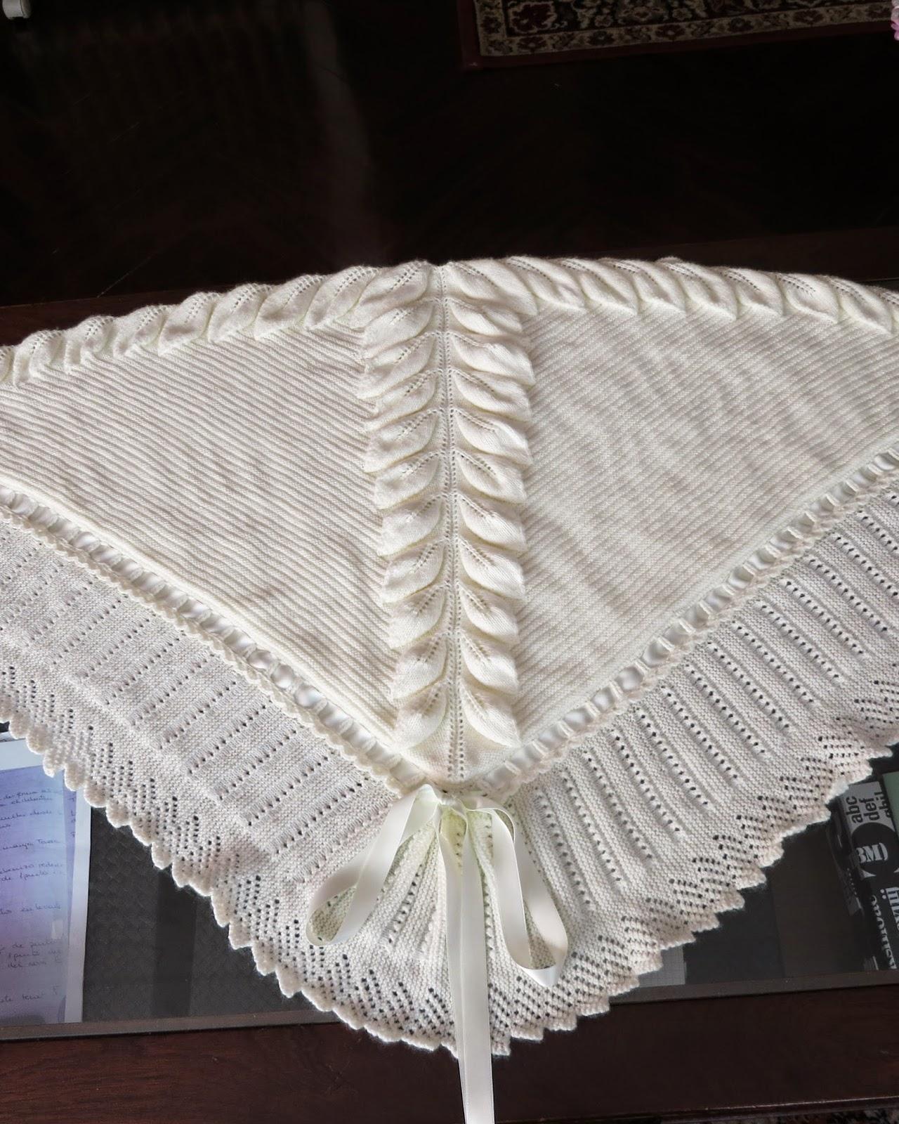 Las agujas de majos manta con hojas - Mantas de punto hechas a mano ...