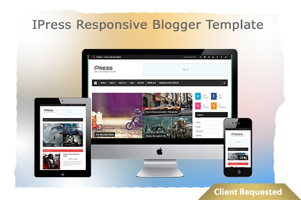 IPress Responsive Blogger Template Preview
