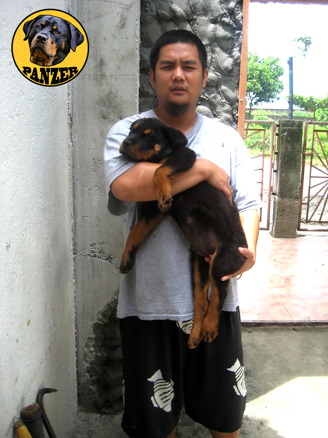 me and my Rottweiler photo