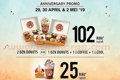 Promo JCO Terbaru 29 - 30 April Dan 2 Mei 2019 Anniversary Datang Lagi!!!